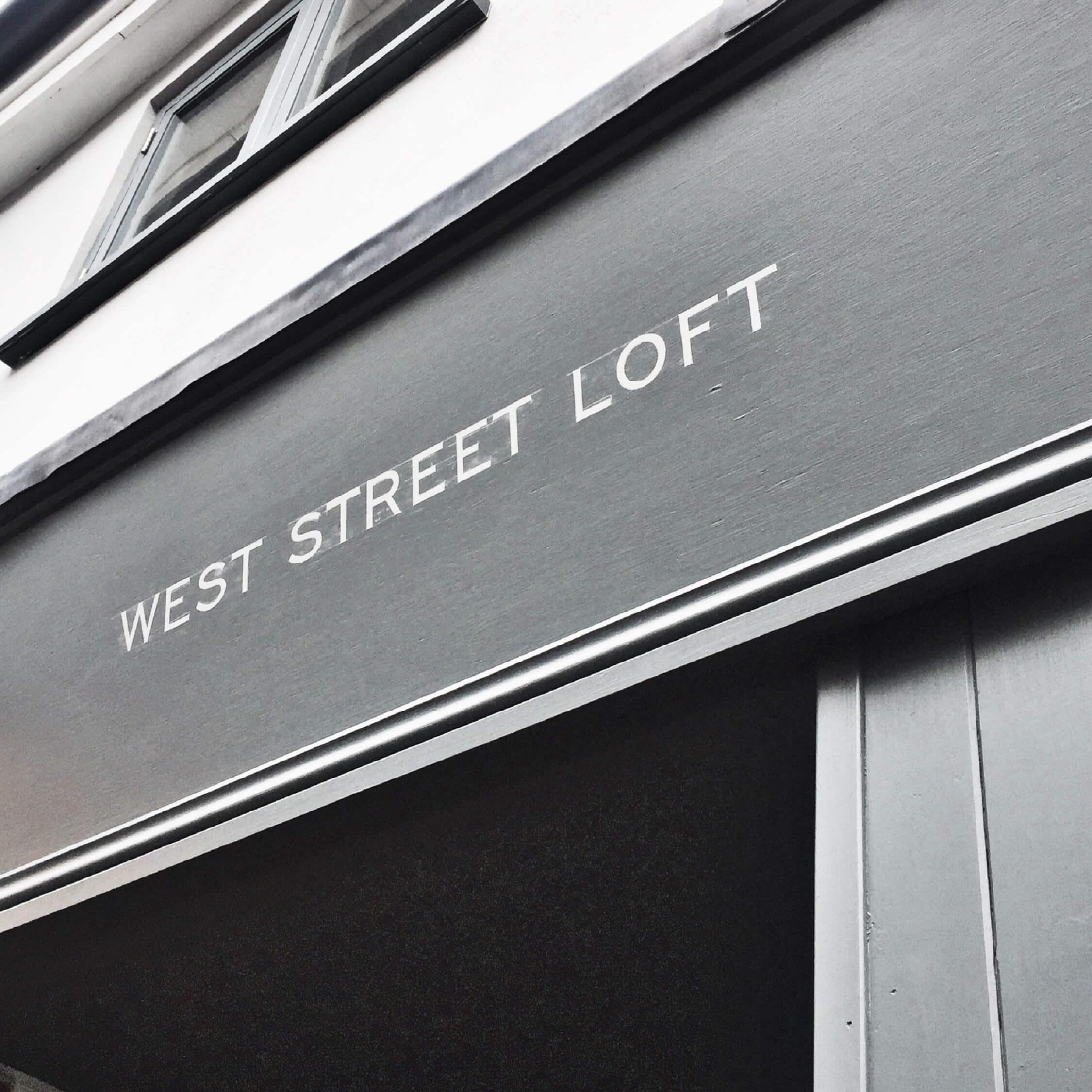 West Street Loft sign