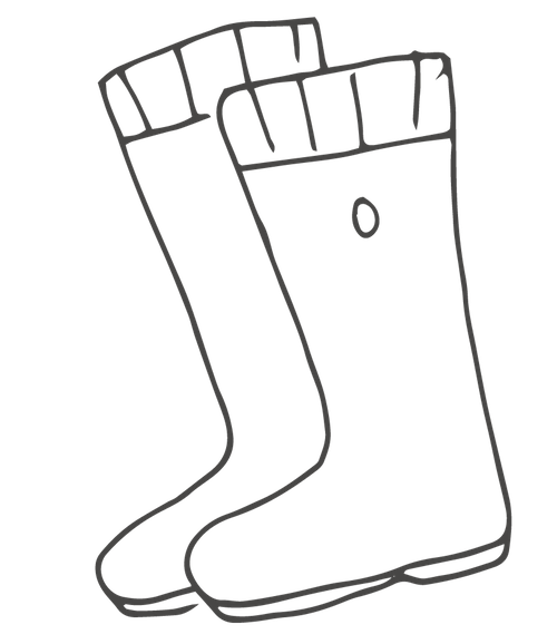 Cabins and Castles illustration - boots
