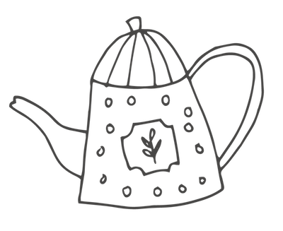 Cabins and Castles illustration - teapot