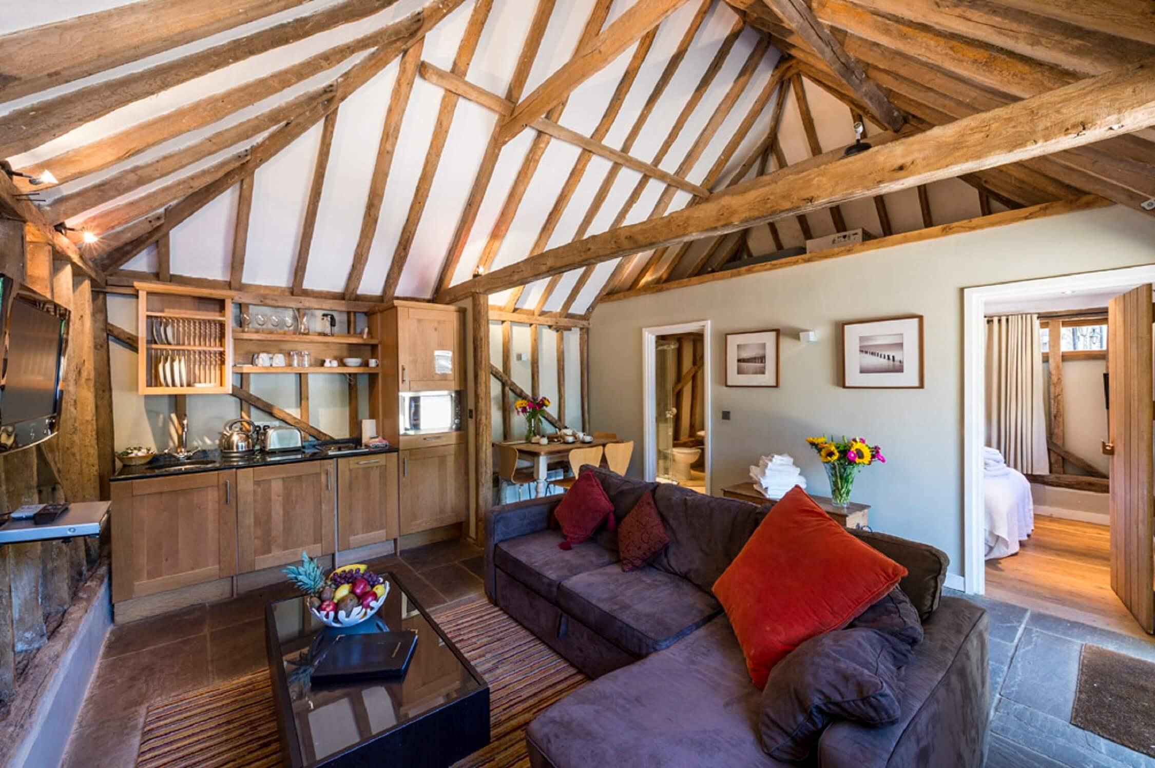 Fair Oak Farm - Grain Store living room
