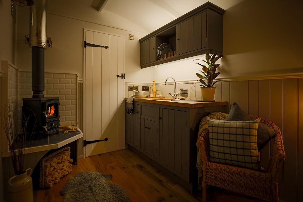 Fair Oak Farm - Shepherd's Hut interior view