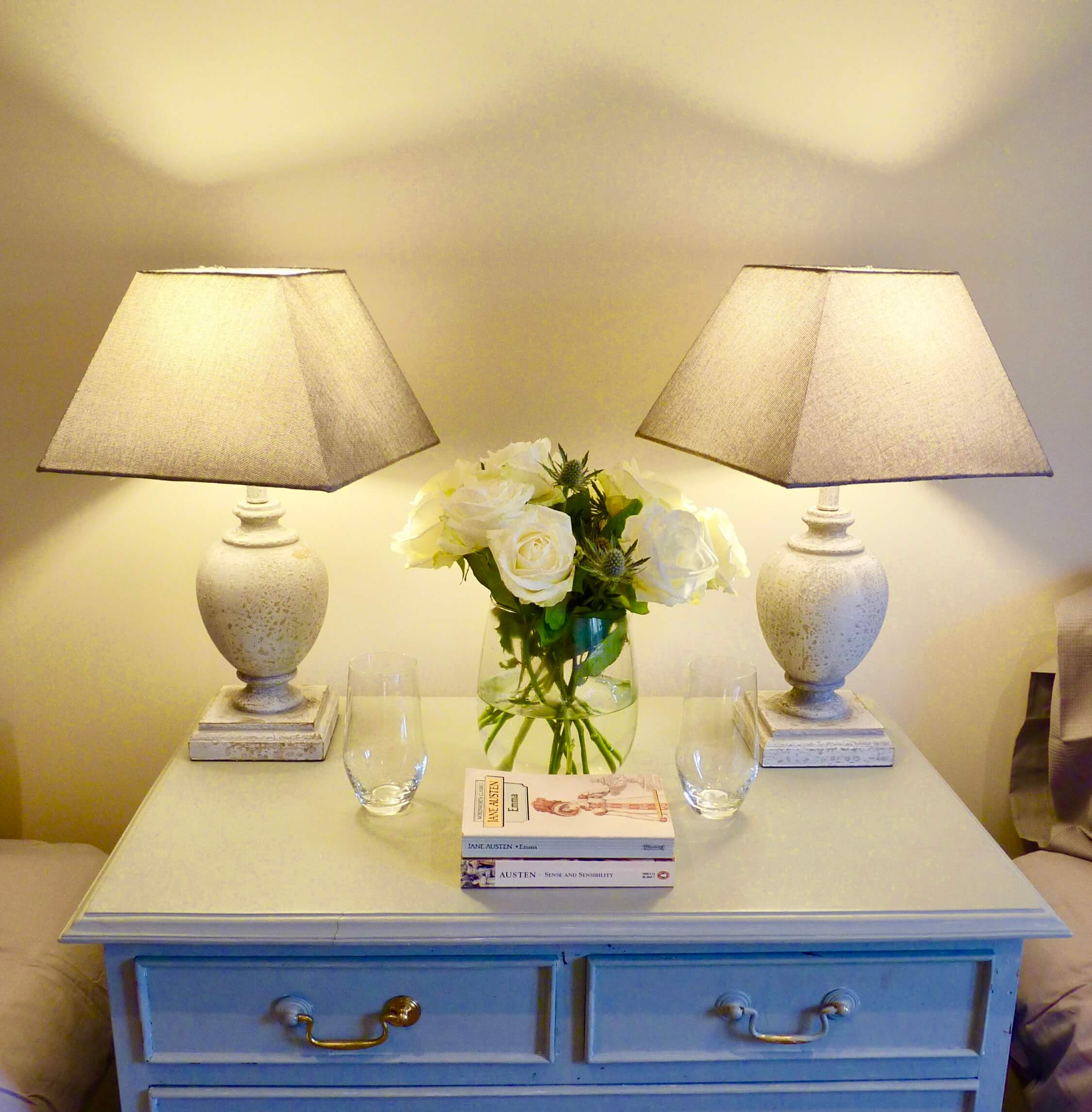 Twin room bedside table