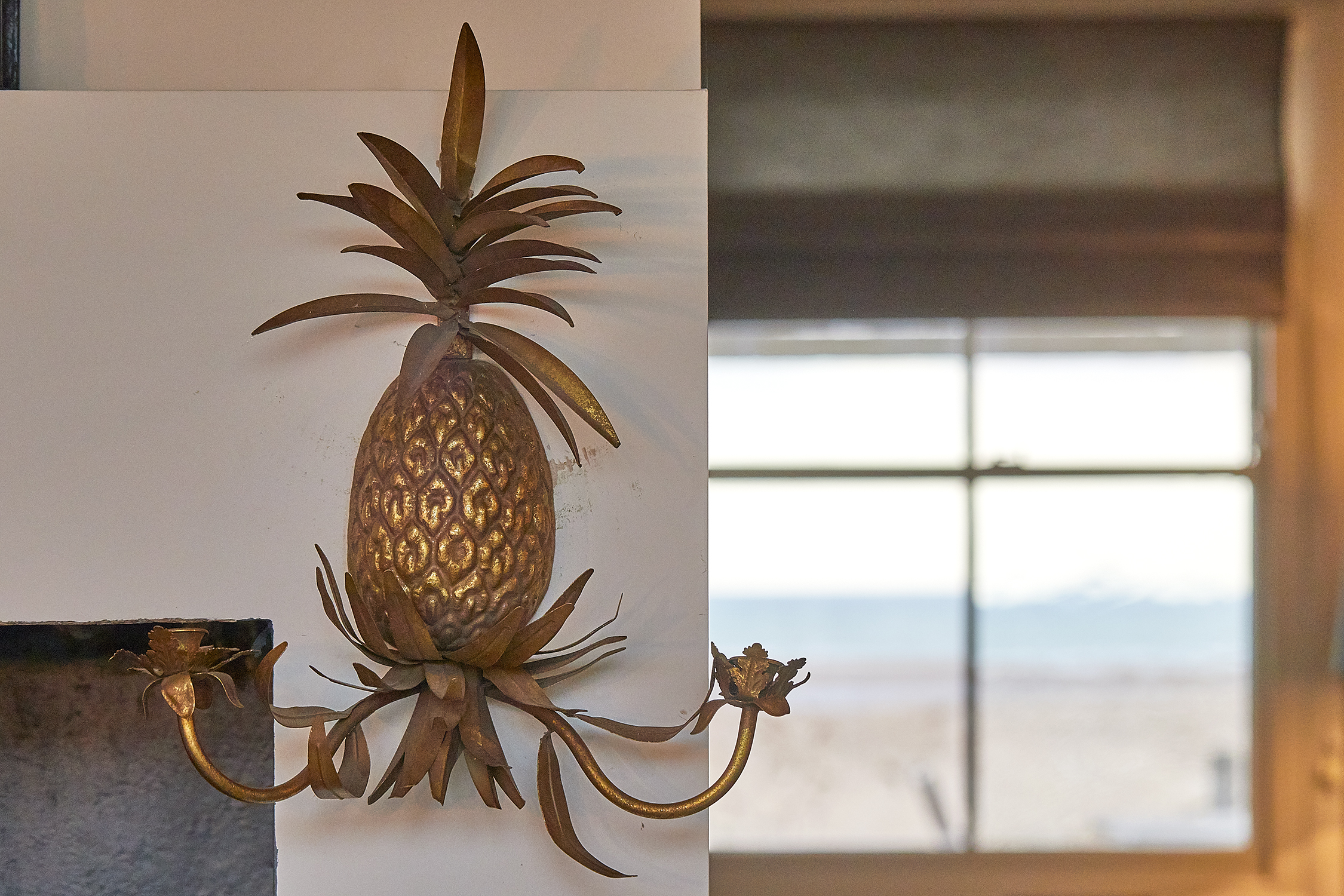 The Bolthole on Pagham Beach - check out the pineapples!