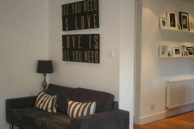 Kitchen sofa area