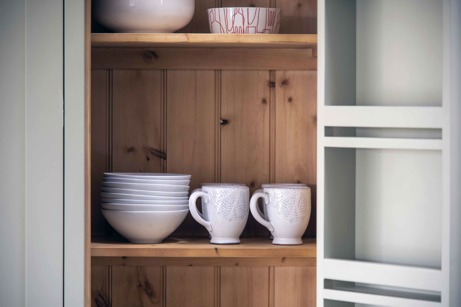 Cupboard with crockery