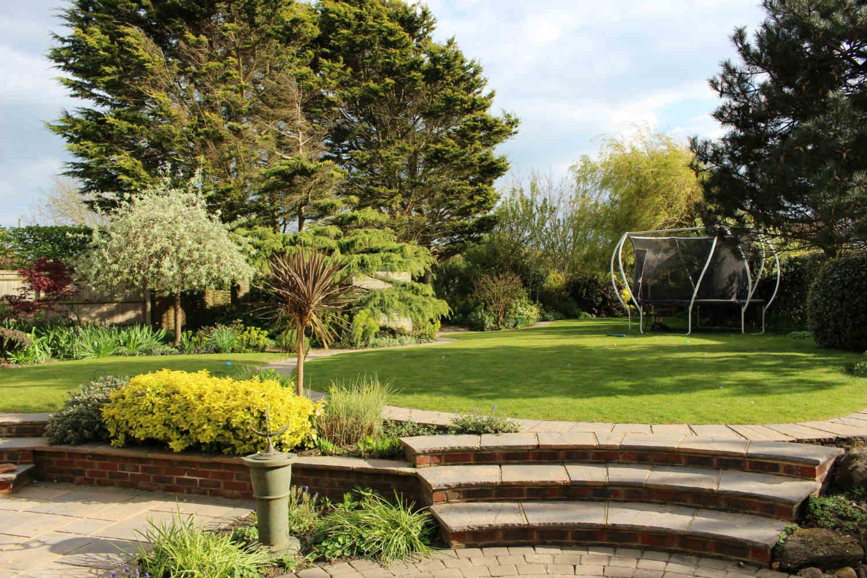 Patio to garden view