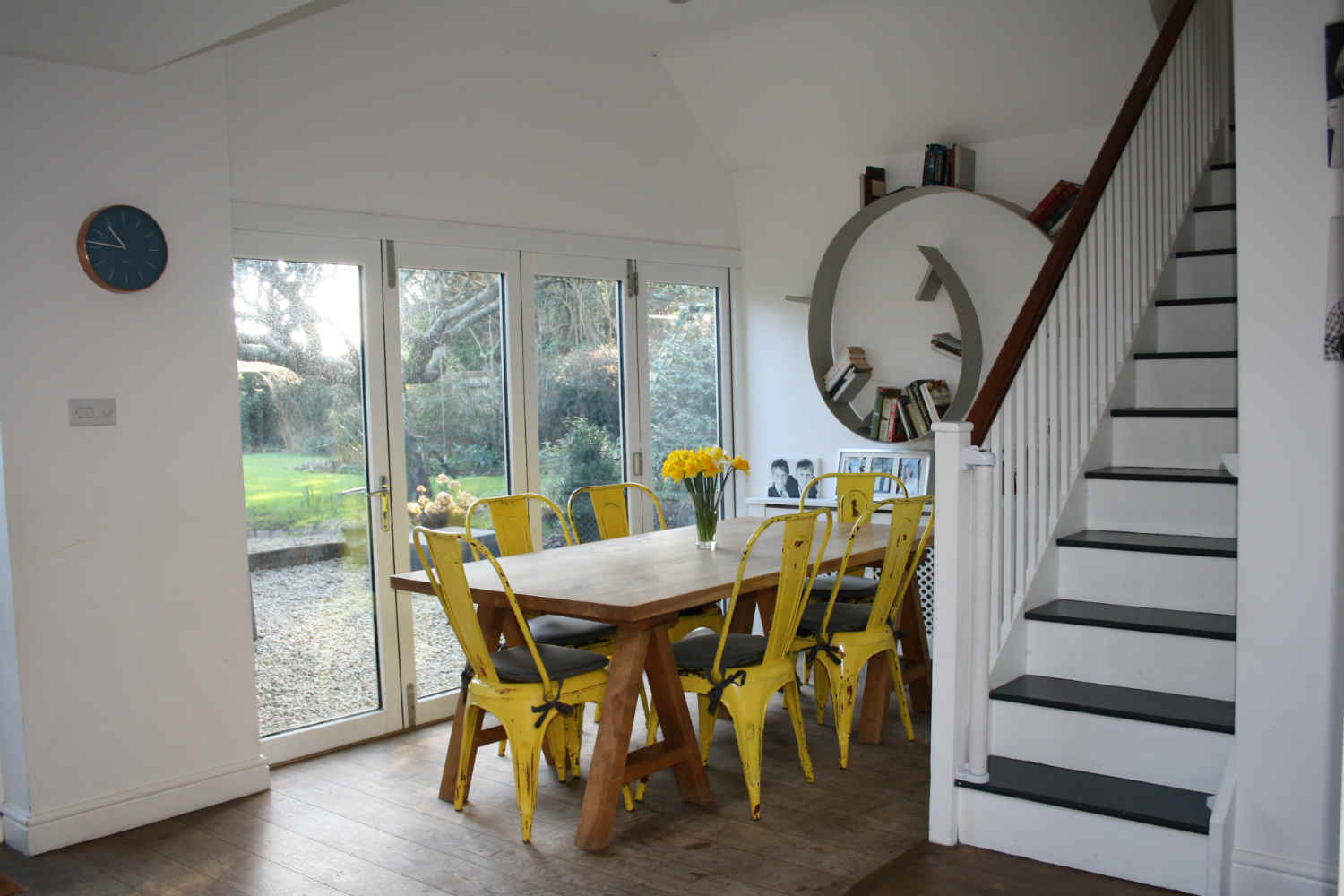 Dining area with doors onto the garden