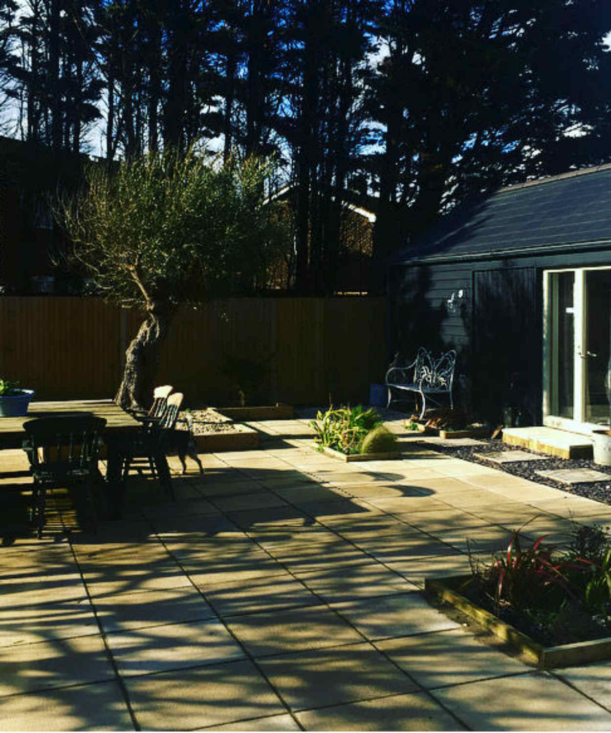 Garden at The Camber Beach House