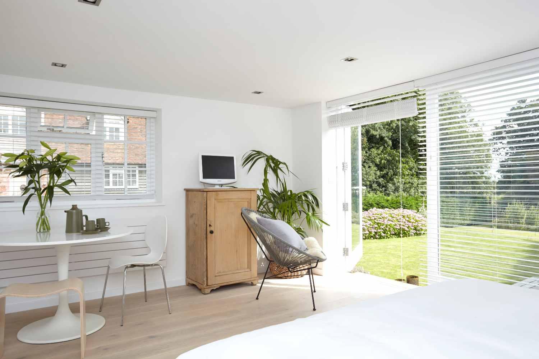 White and calm interiors
