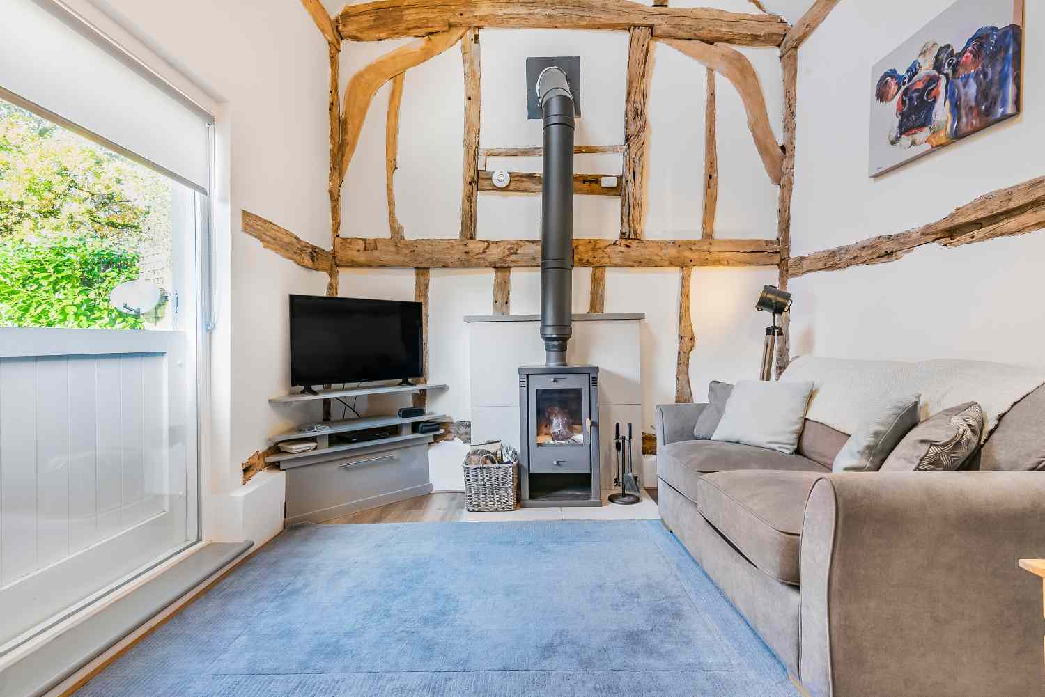 The Hay Stay - sitting room with wood burner