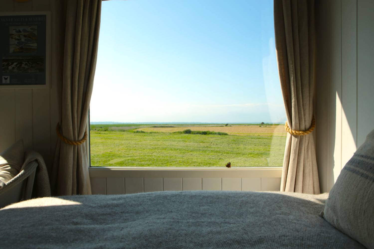 View from bed at The Salty Shepherd