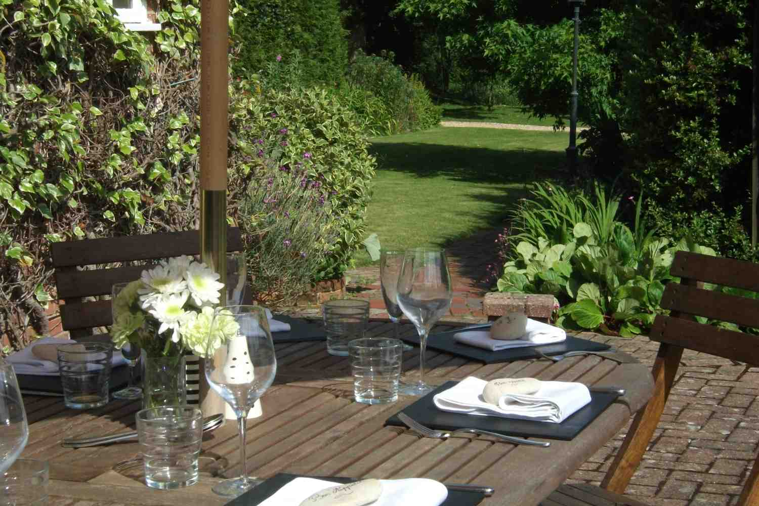 Table in grounds for alfresco dining