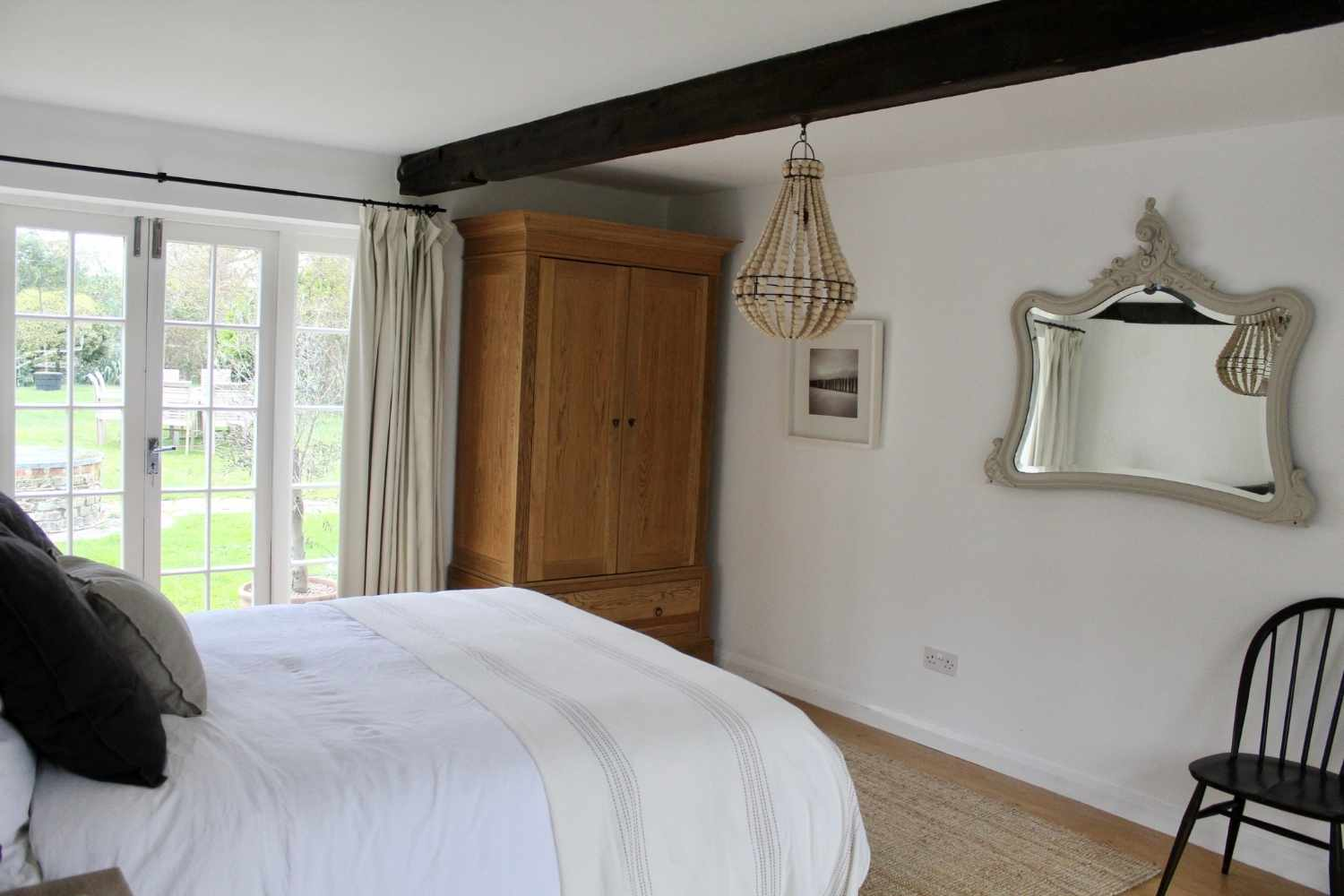 Bedroom One - with view of the garden