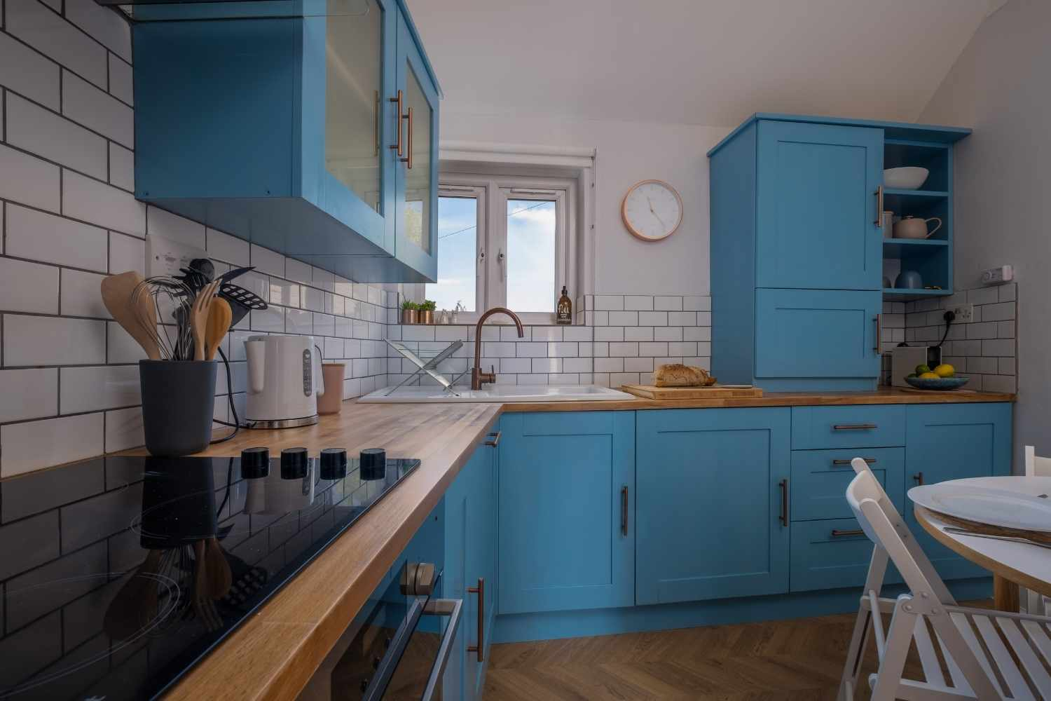 The kitchen has everything you need for your stay