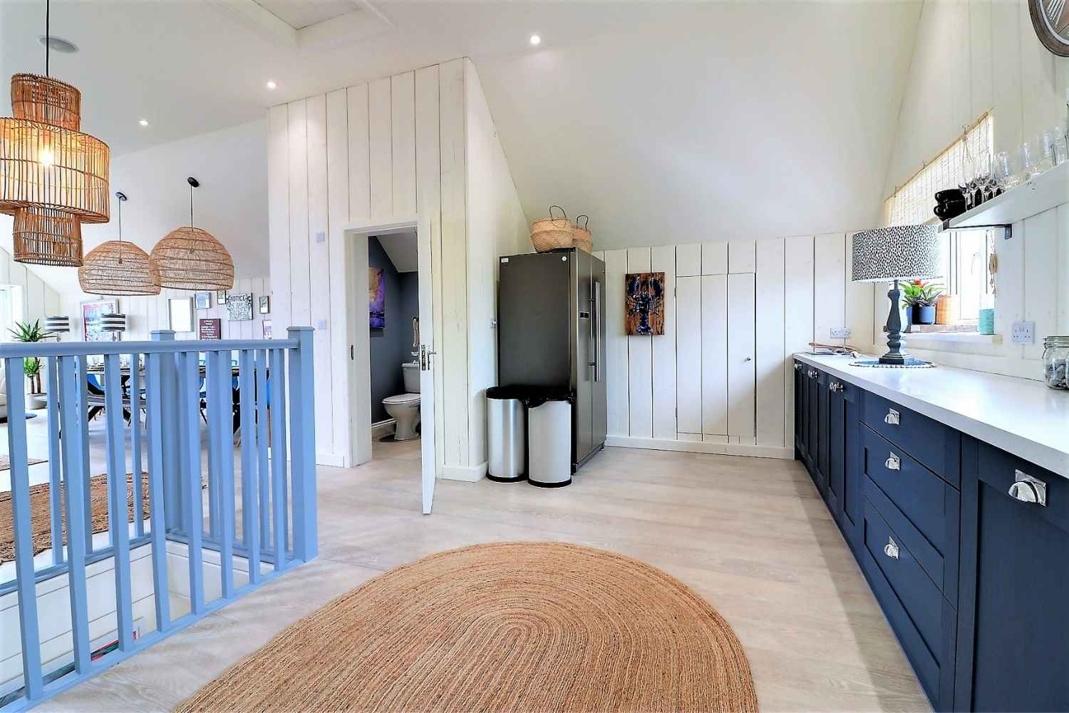 Open Plan kitchen with cloakroom