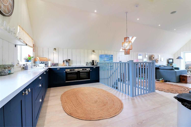 Open plan kitchen & living area