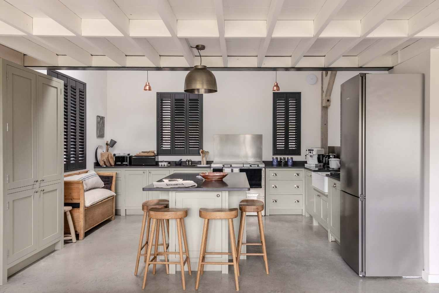 Open plan kitchen with sociable island