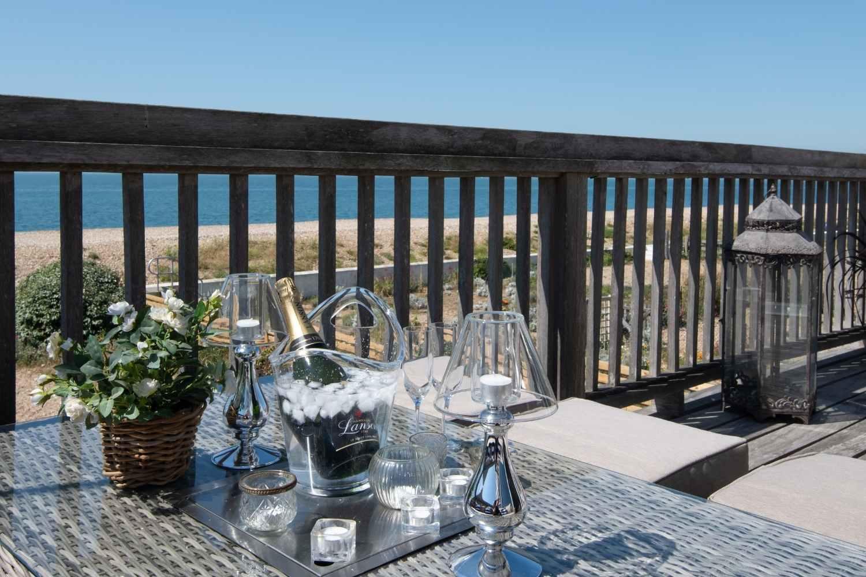 Sunny balcony with glorious sea views