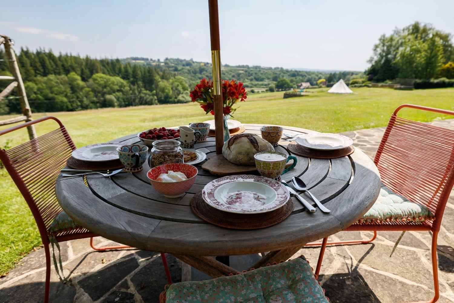 Breakfast on your own private terrace at Little Whispers