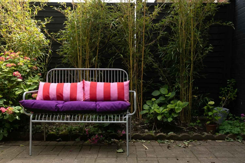Colourful garden seating