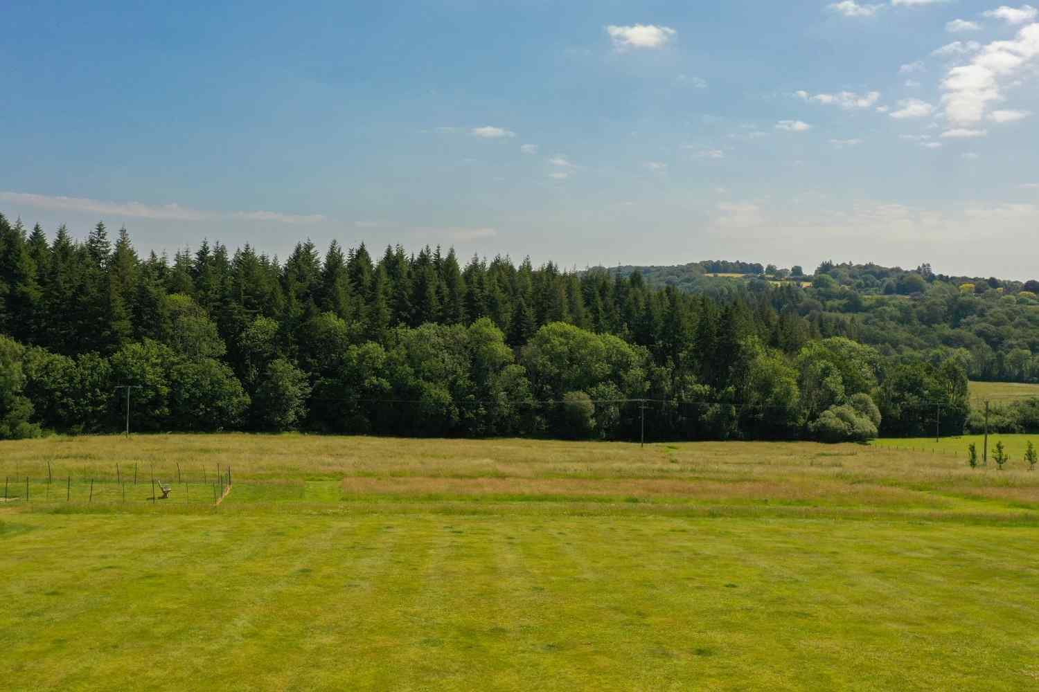 Paddock and views over to the woods