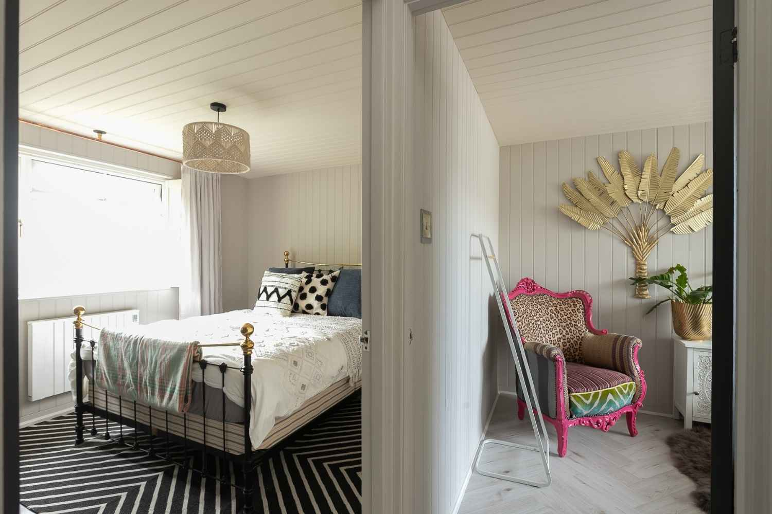 Two of the comfortable bedrooms