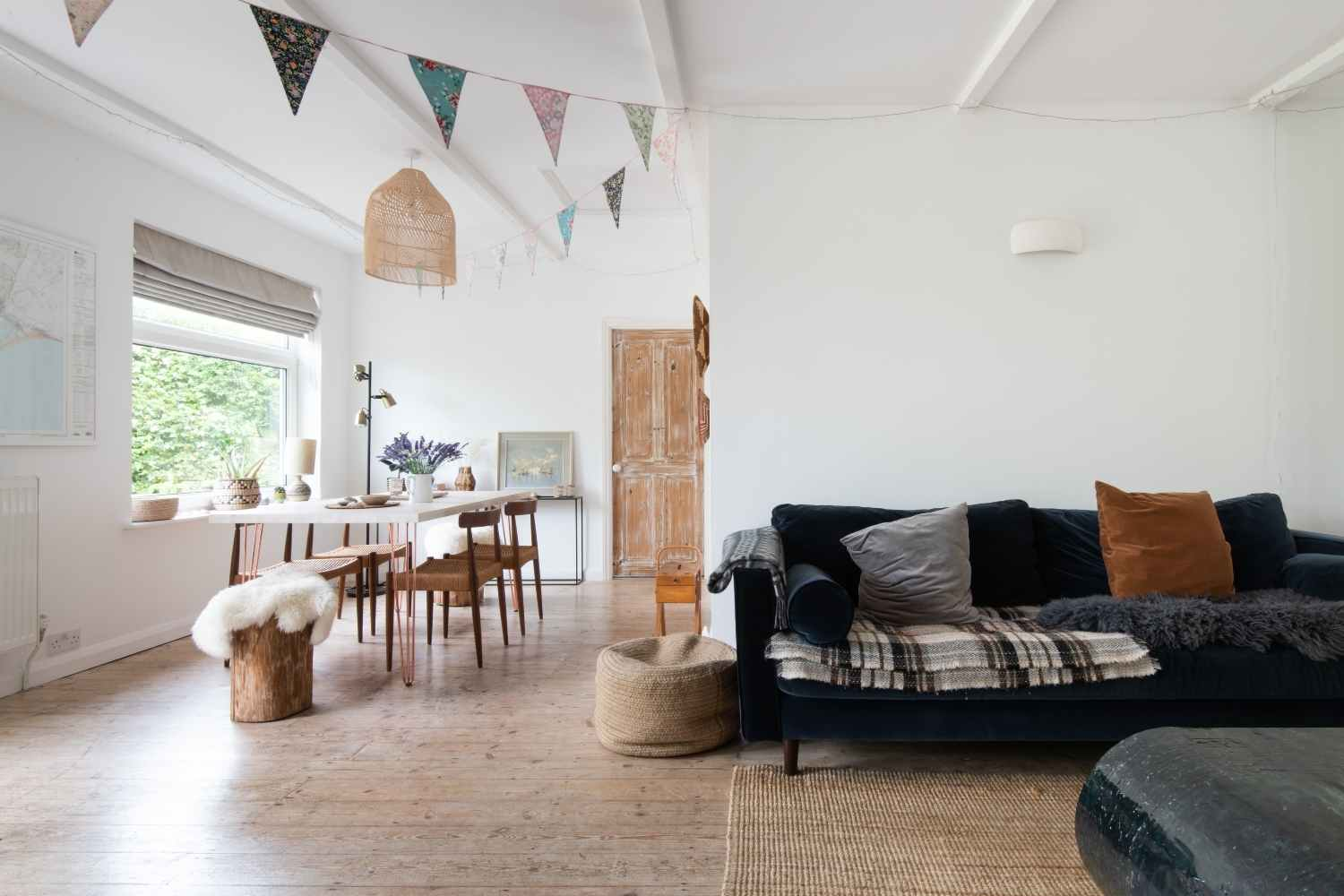 Airy open plan dining space