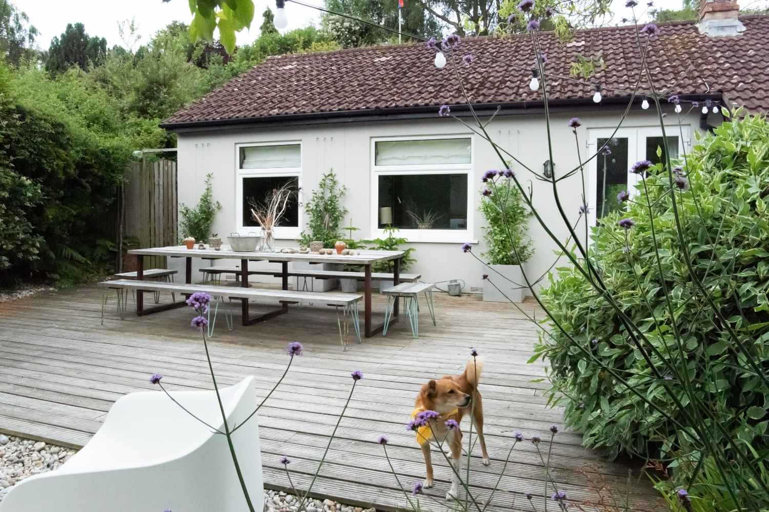 Loads of space on the outdoor terrace
