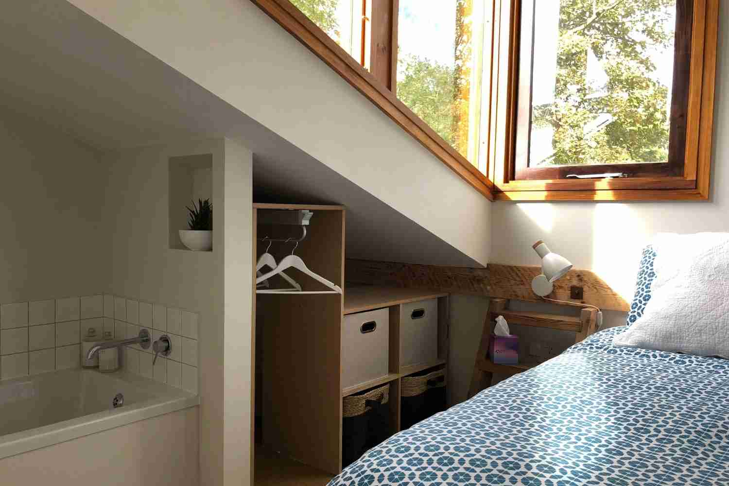 Bedroom One - with cleverly built in storage & bath