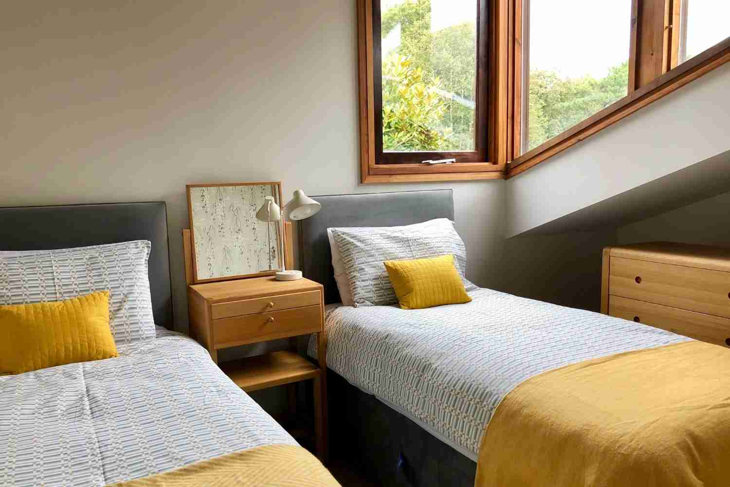 Bedroom Two decorated in simple modern colours
