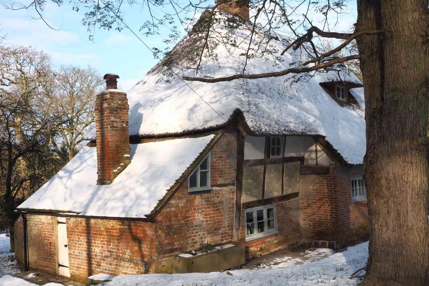 The Forest House with a snowy covering